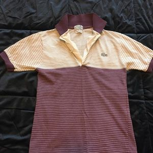 Vintage izod Lacoste purple and white polo